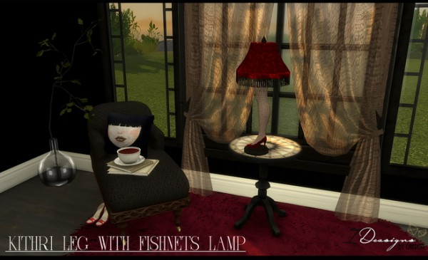 Sims 4 Designs: Kithri Leg With Fishnets Lamp