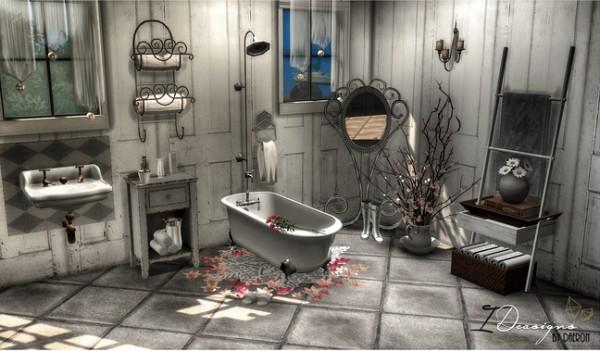 Sims 4 Designs: Antique Bathtub   New Mesh