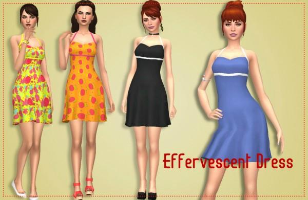 Simsworkshop: Effervescent Dress by Annabellee25