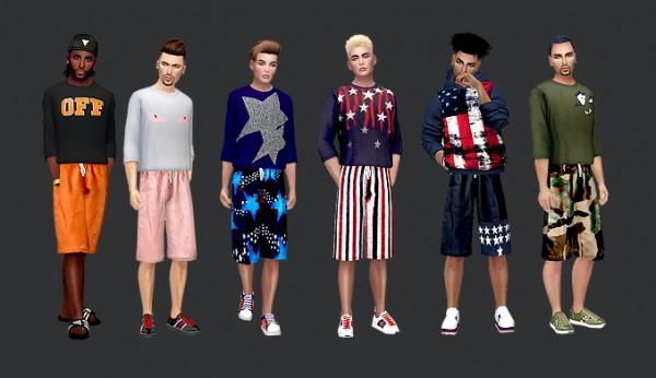Dreaming 4 Sims: T shirts and shorts