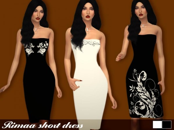 The Sims Resource: Rimaa dress by Sharareh