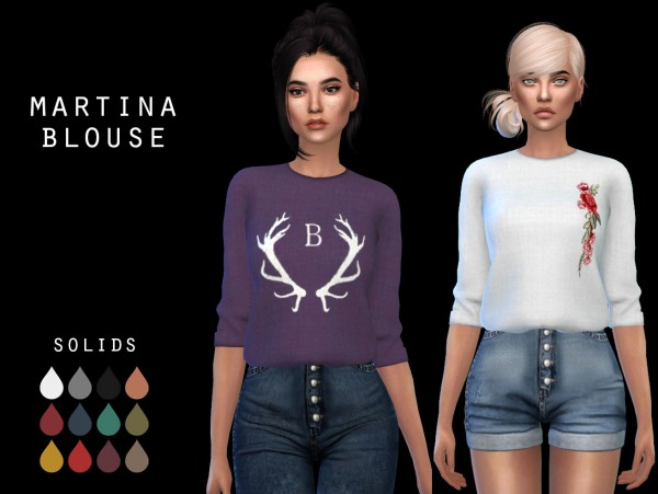Leo 4 Sims: Martina blouse recolored