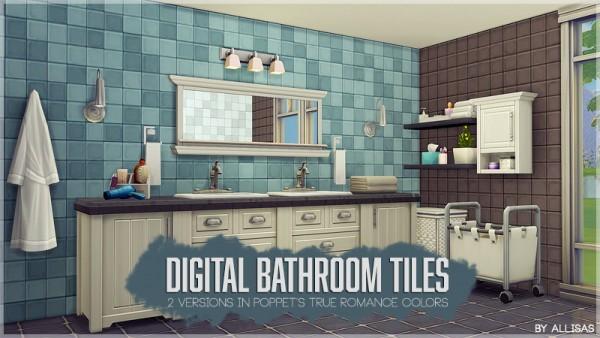 Allisas: Digital Bathroom Tiles   Recolored