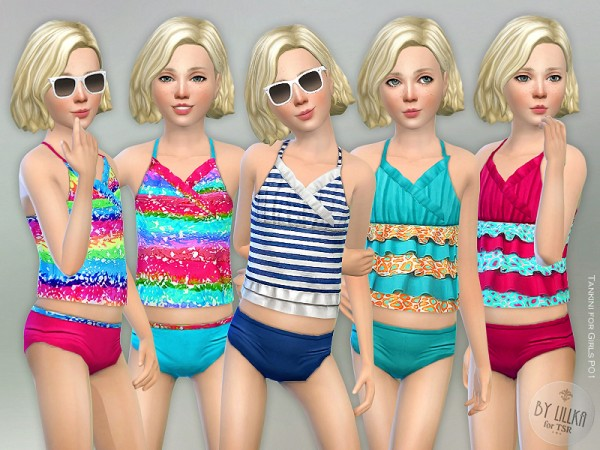 The Sims Resource: Tankini P01 for Girls by lillka