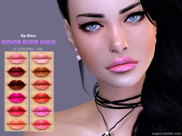 The Sims Resource: Lip Gloss   color elixir gloss by ANGISSI
