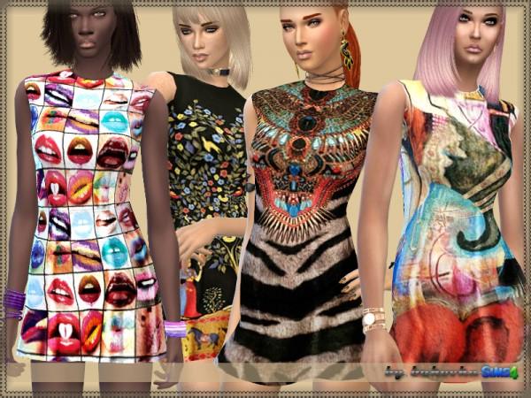 The Sims Resource: Dress Summer Print by bukovka