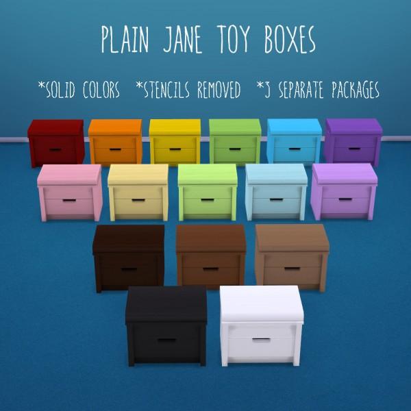 Deelitefulsimmer: Plain Jane toy boxes
