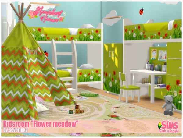 Sims by Severinka: Flower meadow kidsroom