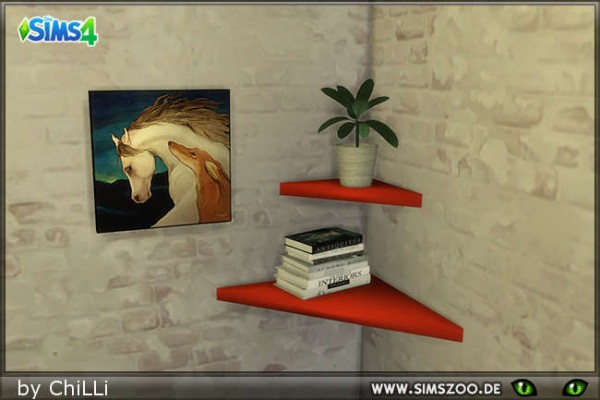 Blackys Sims 4 Zoo: RC3 Shelves by  ChiLLi