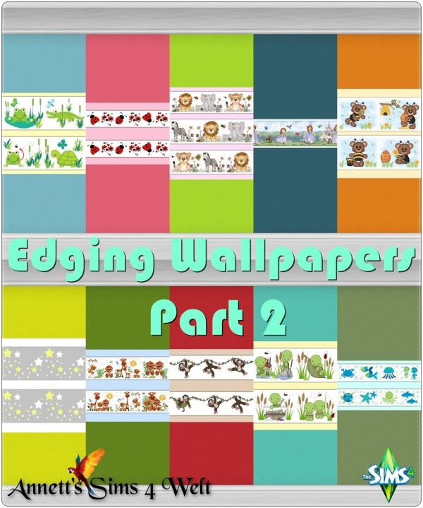 Annett`s Sims 4 Welt: Edging Wallpapers   Part 2