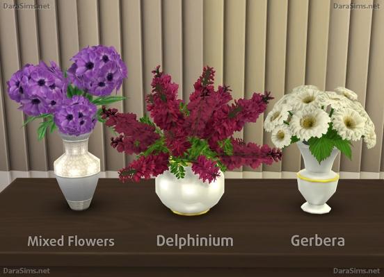 Dara Sims Flower Set 2 4 S