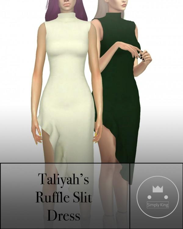 Simply King: Taliyah's Ruffle Slit Dress