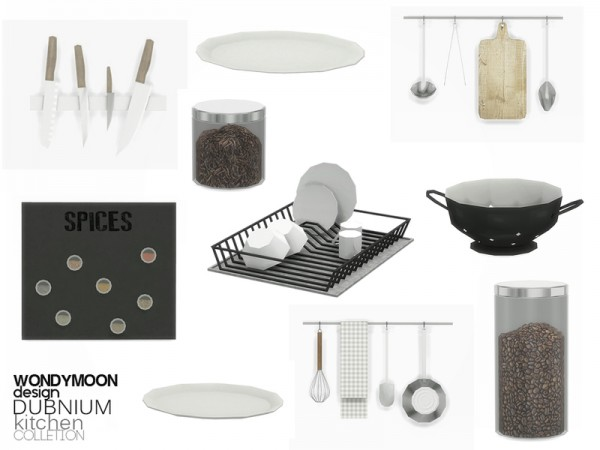 The Sims Resource: Dubnium Kitchen Decorations by wondymoon
