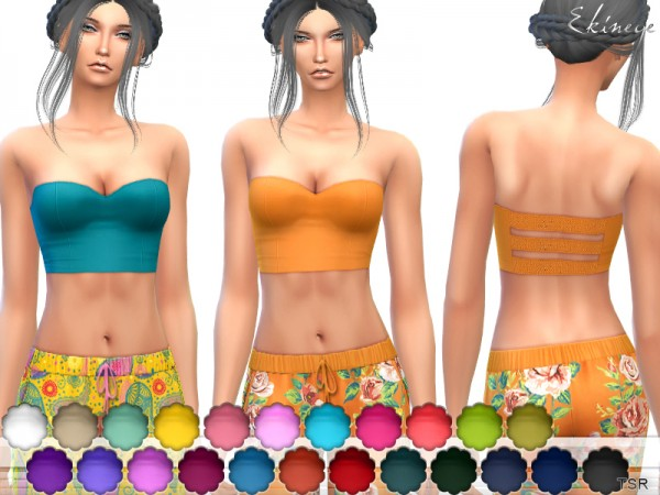 The Sims Resource: Strapless Top by ekinege