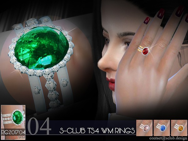 The Sims Resource: Rings R 201704 by S club