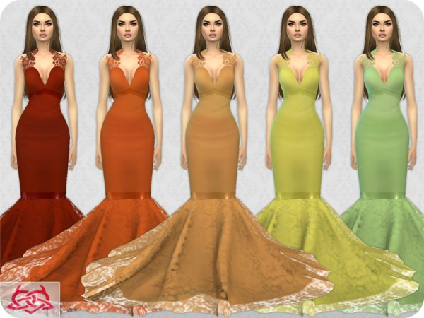 The Sims Resource: Wedding Dress 8 recolor 2 by Colores Urbanos