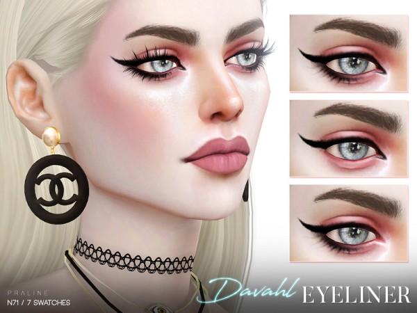 The Sims Resource: Davahl Eyeliner N71 by Pralinesims