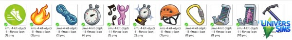 Luniversims: Fitness   Kit of objects 11: game icons by olideg