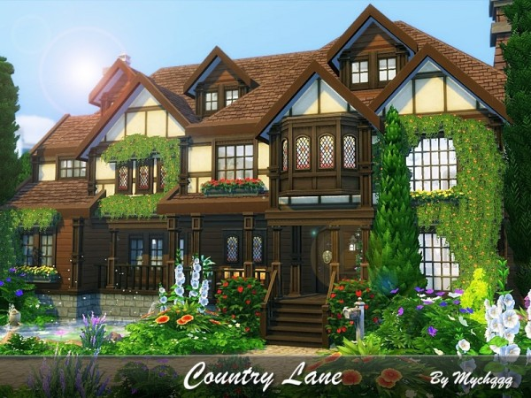 The Sims Resource: Country Lane house by MychQQQ