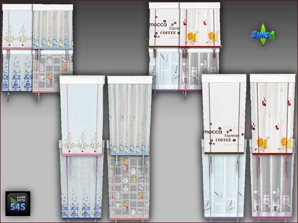 Arte Della Vita: 8 kitchen curtains in 2 sizes