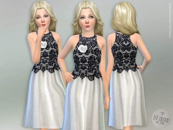 The Sims Resource: Evening Dress for Girls by lillka