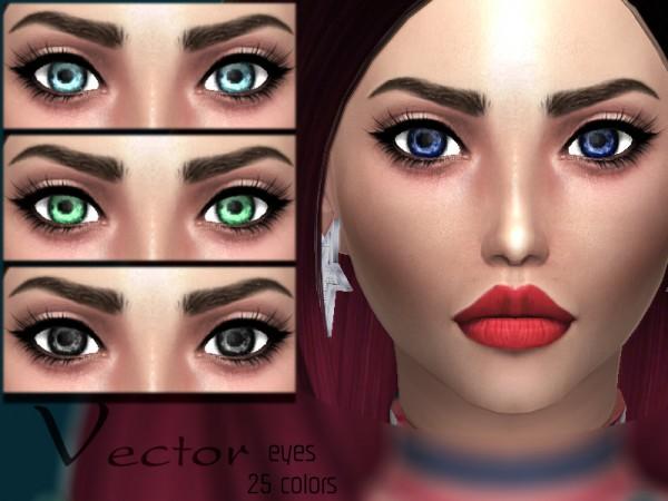 The Sims Resource: Vector eyes by Sharareh