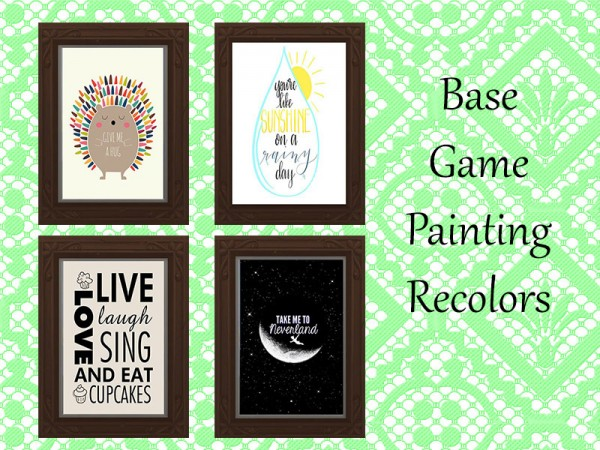 The Sims Resource: Base Game Painting Recolor by Rosannep