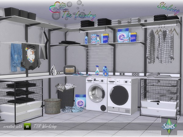 The Sims Resource The Laundry Shelving By Buffsumm