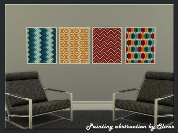 The Sims Resource: Painting abstraction by Olivas