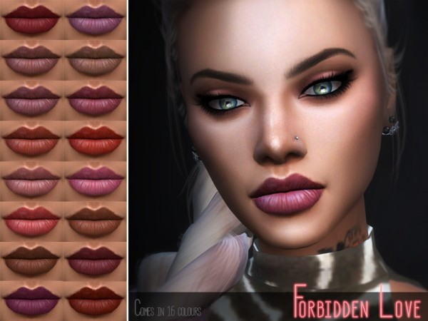 The Sims Resource: Forbidden Love Lipstick by Kitty.Meow