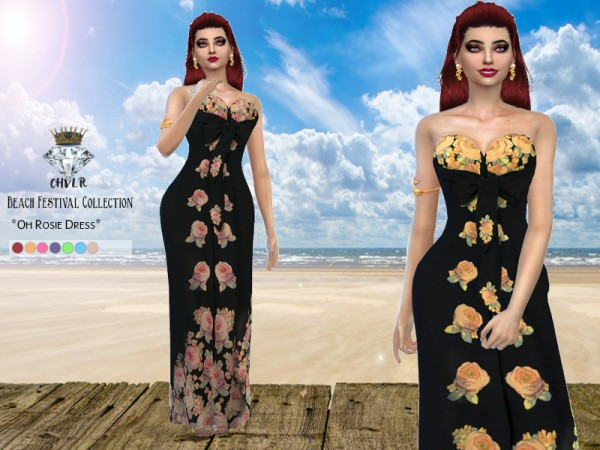The Sims Resource: Oh Rosie Dress by MadameChvlr
