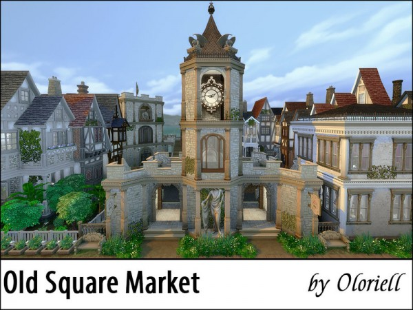 The Sims Resource: Old Square Market (noCC) by Oloriell