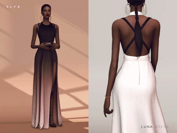 The Sims Resource Luna Dress By Slyd Sims 4 Downloads