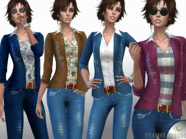 The Sims Resource: Buckle Up Denim by ZitaRossouw