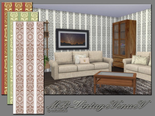 The Sims Resource: Vintage Venue V Set by matomibotaki