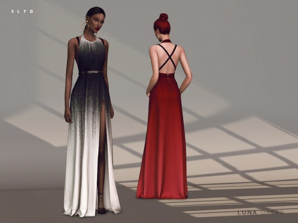 The Sims Resource: Luna Dress by SLYD
