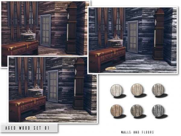 The Sims Resource: Aged Wood Set 01 by .Torque