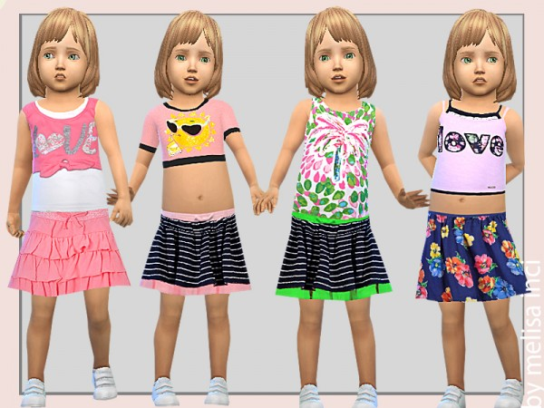 The Sims Resource: Toddler Girl Layered Tanks by melisa inci