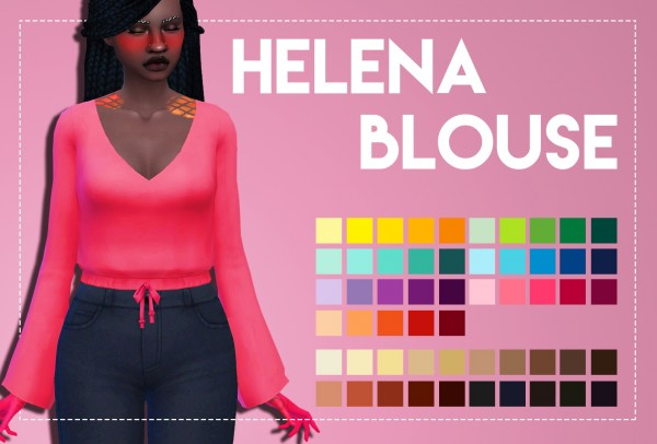 Simsworkshop: Helena Blouse by Weepingsimmer