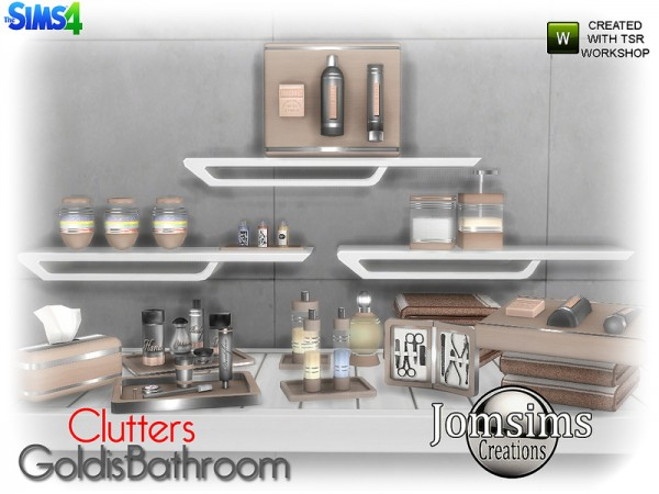 The Sims Resource: Goldis bathroom clutters by jomsims
