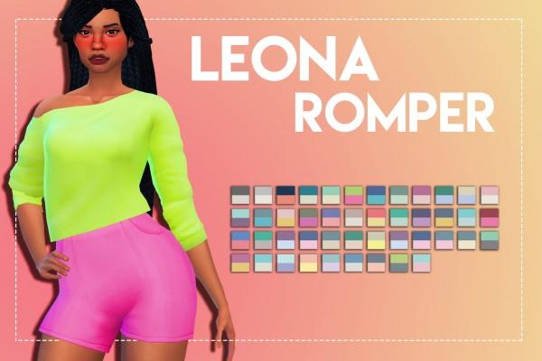 Simsworkshop: Leona Romper by Weepingsimmer