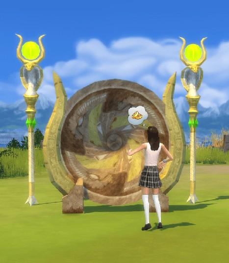 Simsworkshop: Hatshepsut Portal Gate  Scepter Of Eternity by BigUglyHag