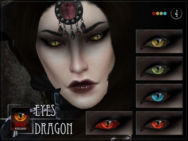 The Sims Resource Dragon Eyes By Remussirion Sims 4
