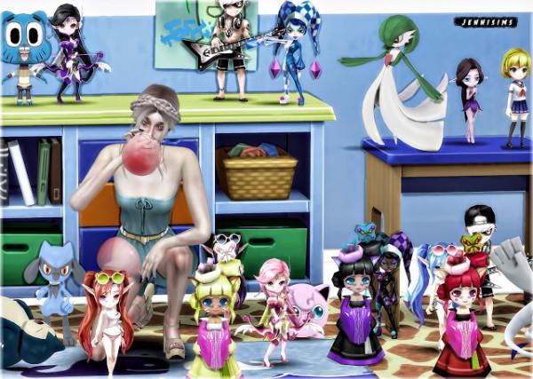 Jenni Sims: Set Vol 69 Doll and Pokemon
