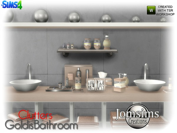 The Sims Resource Goldis Bathroom Clutters By Jomsims