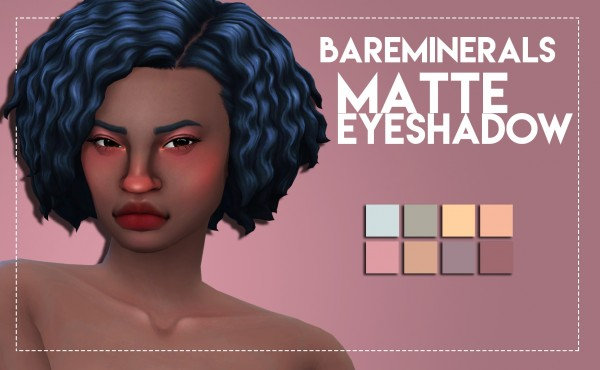Simsworkshop: Bare Minerals Inspired Matte Eyeshadow by Weepingsimmer