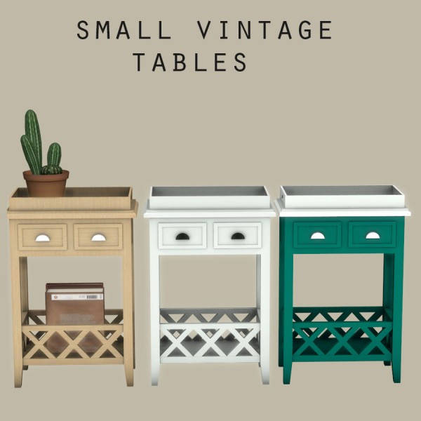leo 4 sims small vintage table sims 4 downloads