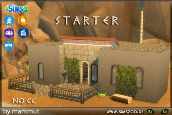 Blackys Sims 4 Zoo: Starter home by mammut