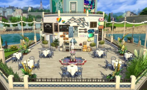 Mod The Sims: Taverna Akrotiri (no CC) by Alrunia