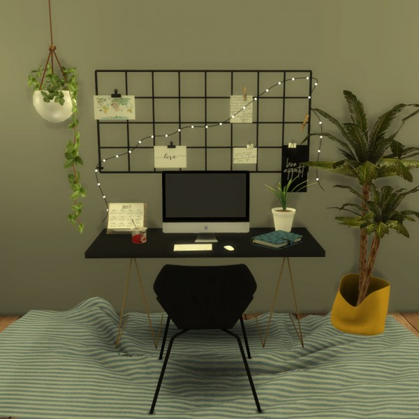 Leo 4 Sims: Wall Grid With String Light